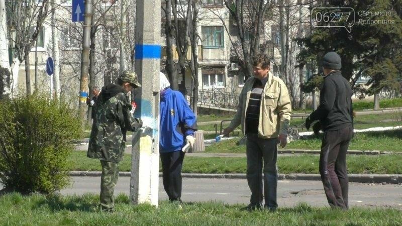 Активисты в Доброполье самостоятельно вернули национальную символику на главные улицы, фото-4