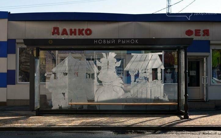 В Доброполье начали устанавливать новые остановочные павильоны на проспекте Победы, фото-2