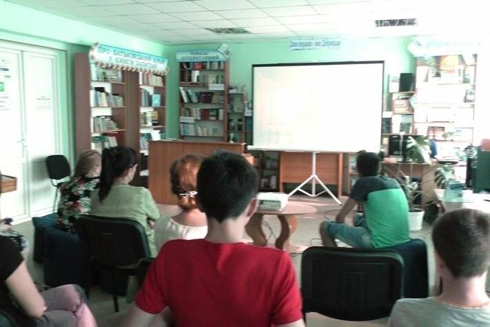 В добропольской центральной библиотеке прошел второй день Фестиваля европейского кино , фото-4