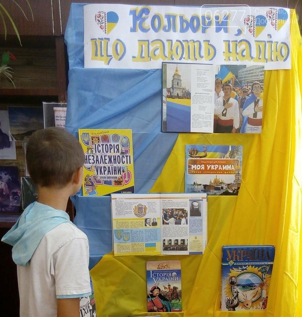 В Белозерском проводится выставка ко Дню флага Украины, фото-1