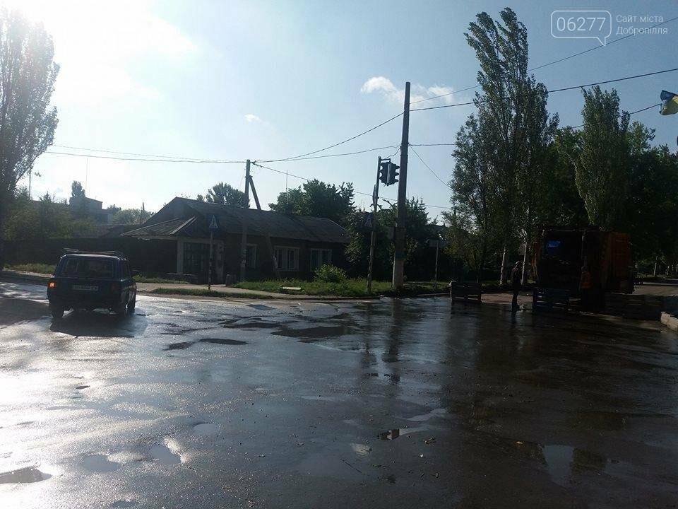 В Доброполье затопило улицу Ивана Франко, фото-1