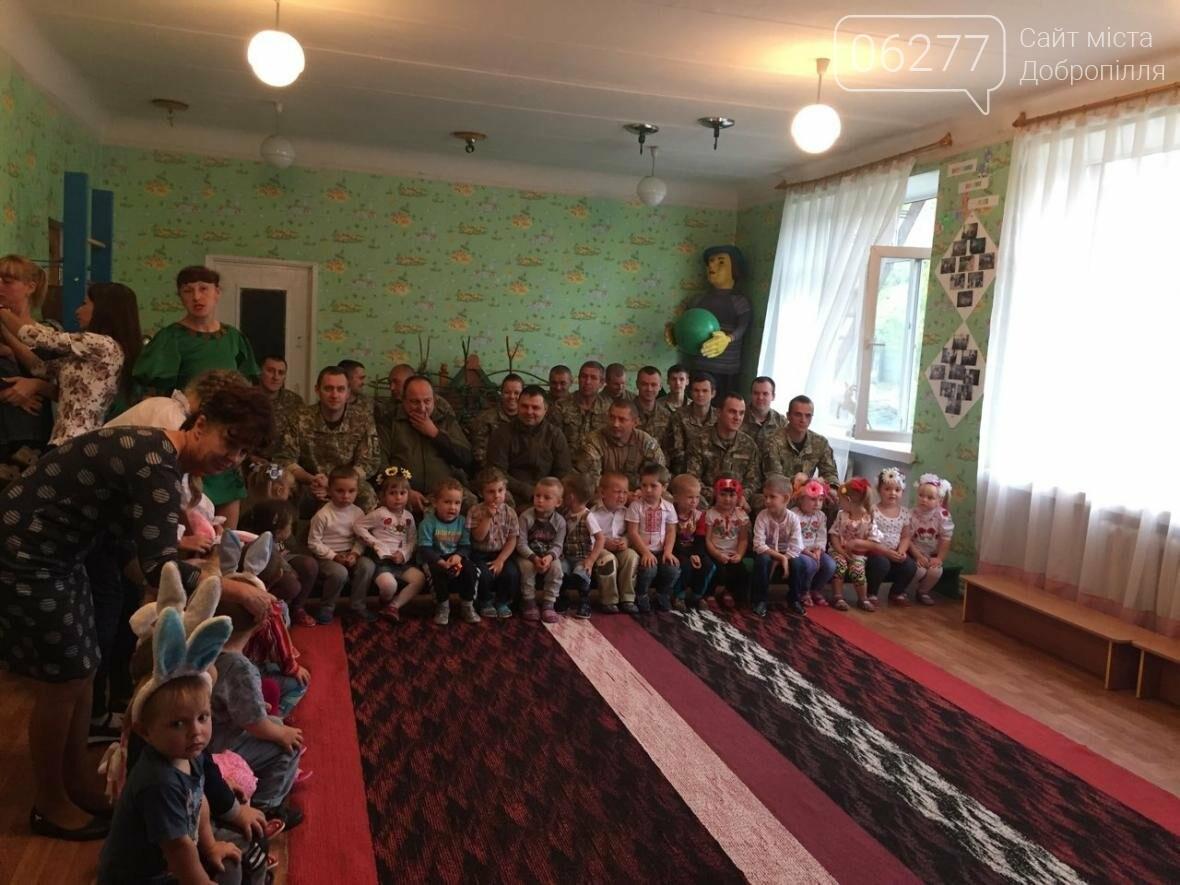 В Добропольском районе дети встретились с военными, фото-5