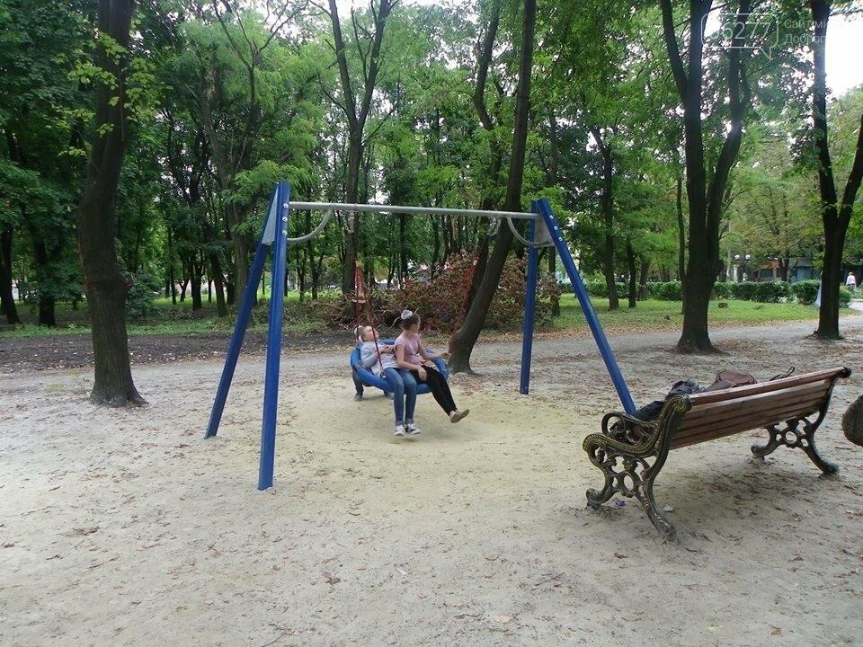 В Доброполье в городском парке  власти обустраивают детскую площадку, фото-5