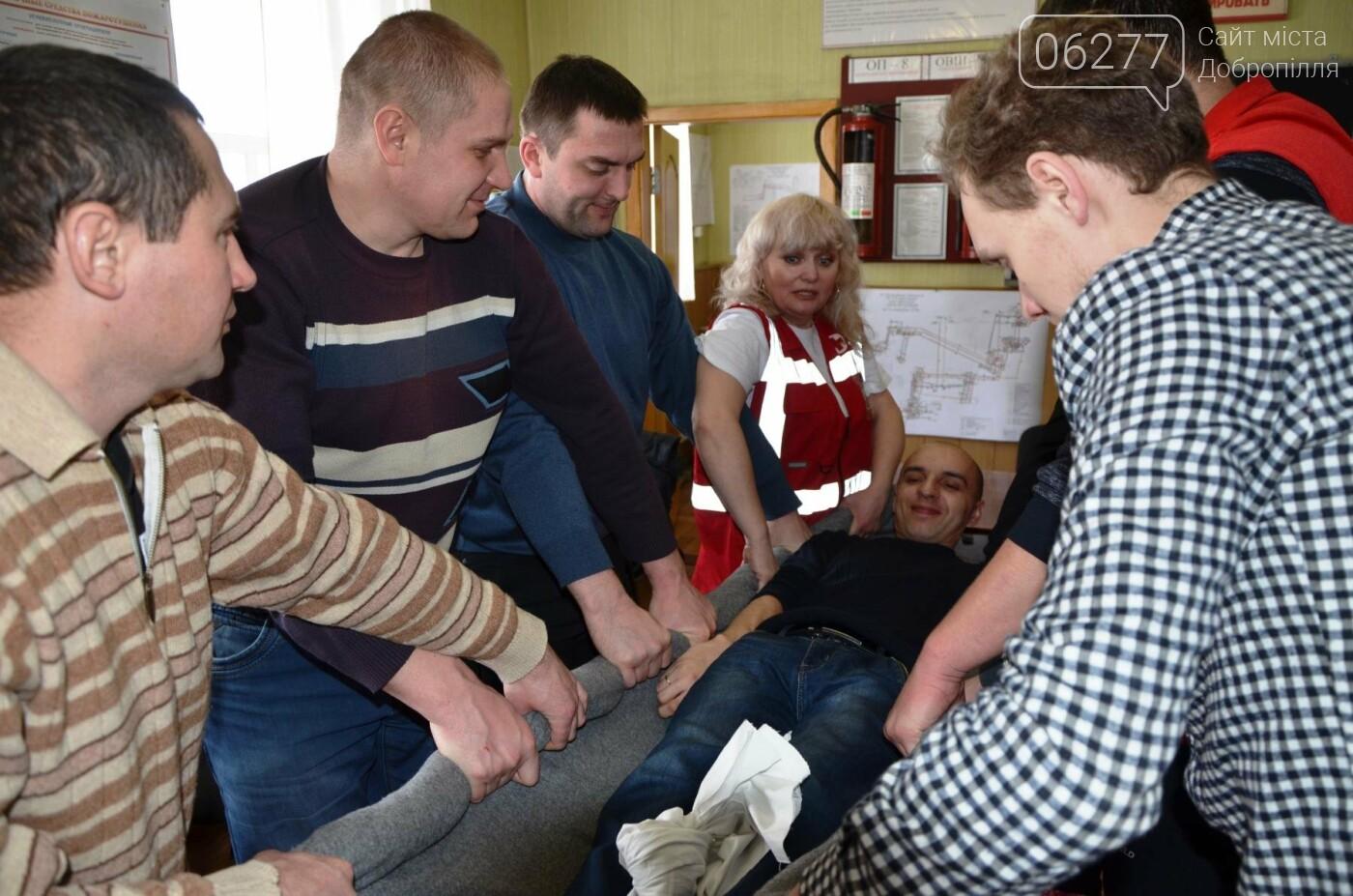 В Доброполье шахтеры-спасатели учились оказывать первую помощь, фото-1