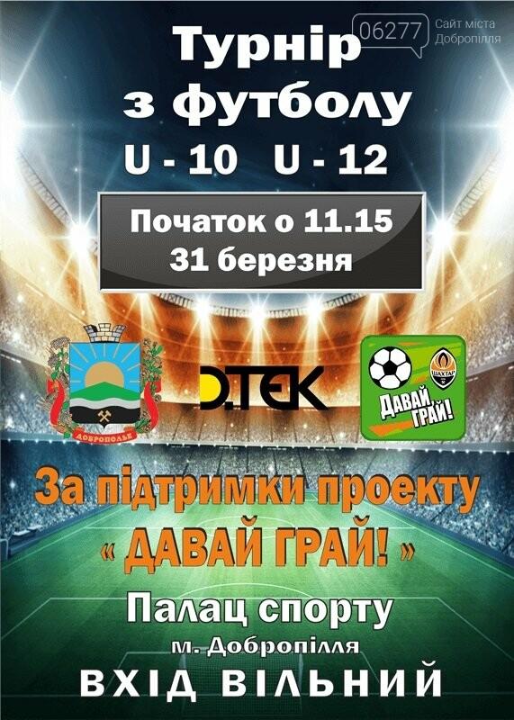 «Давай, играй!» приглашает на турнир по футболу в Доброполье, фото-1