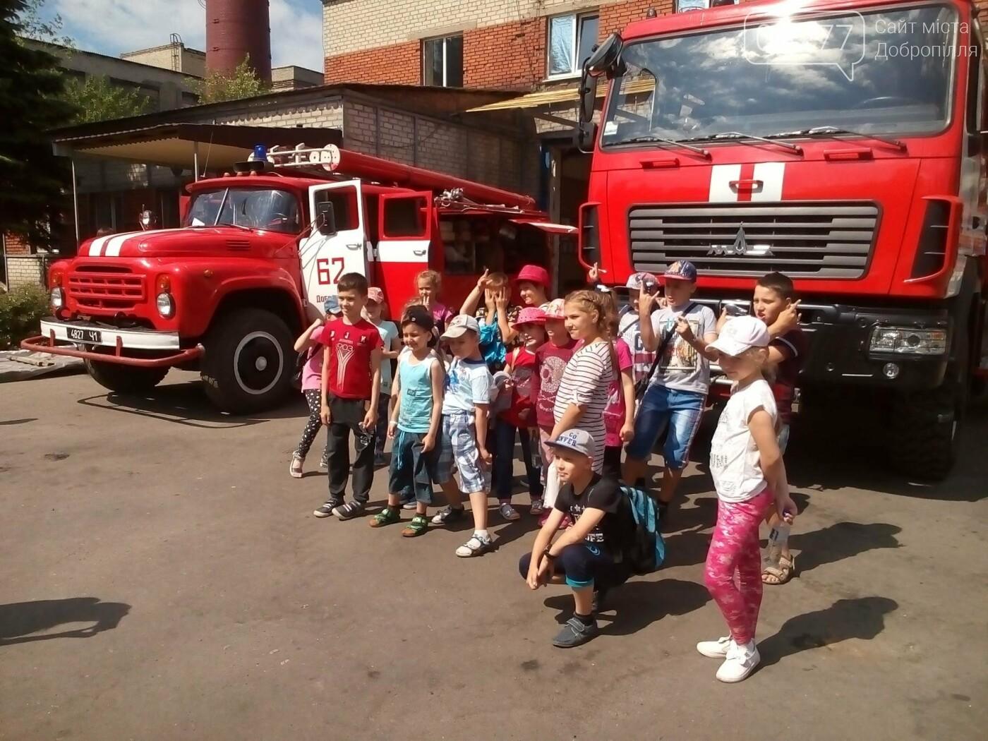У Добропіллі відбулися пізнавальні екскурсії дітей до пожежно-рятувальної частини, фото-2