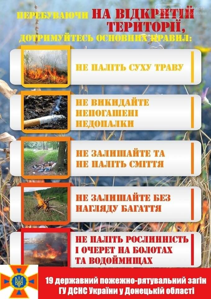 До уваги добропільчан: введена заборона відвідування лісових масивів у період надзвичайної пожежної небезпеки, фото-1