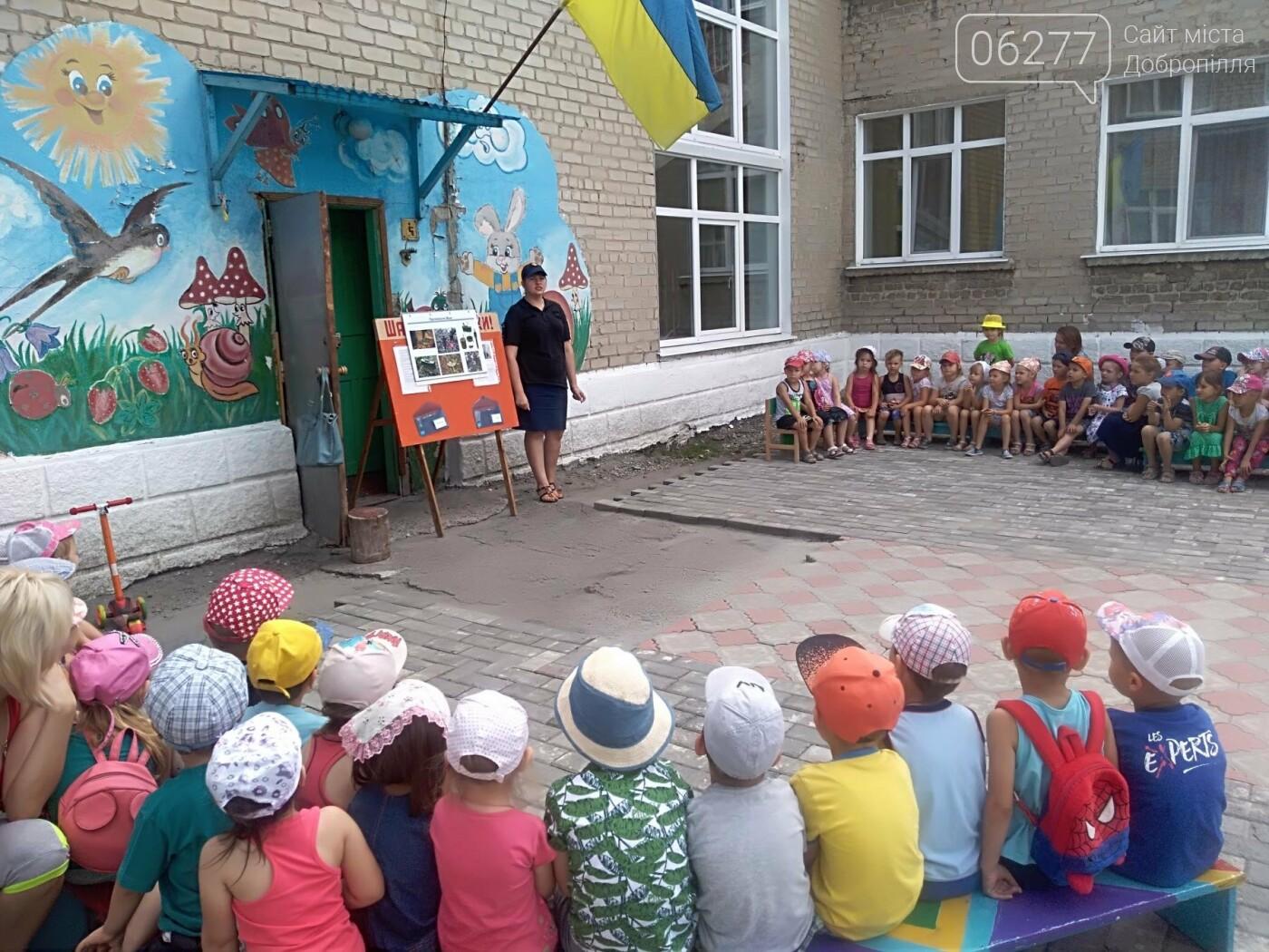 У Добропіллі рятувальники провели інформаційно-роз`яснювальну роботу з дошкільнятами, фото-2