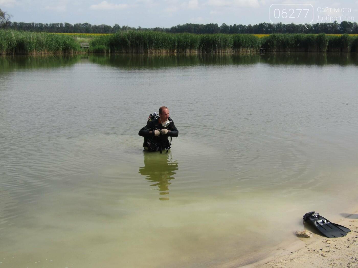 У Добропіллі водолази вилучили з міського ставка тіло потонулого  чоловіка, фото-1