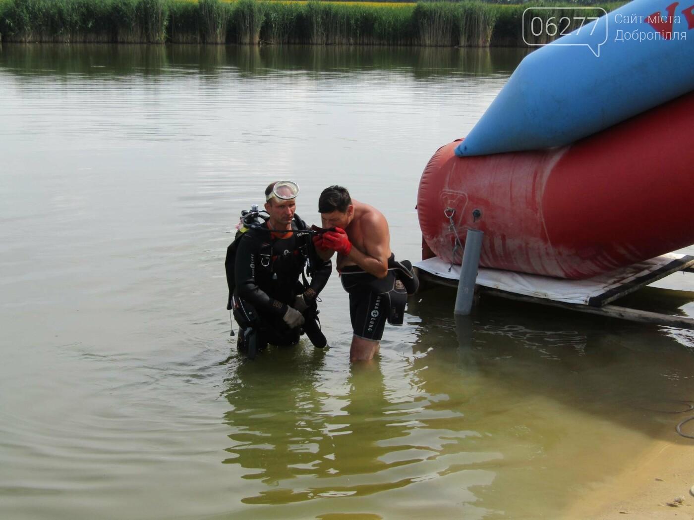 У Добропіллі водолази вилучили з міського ставка тіло потонулого  чоловіка, фото-2