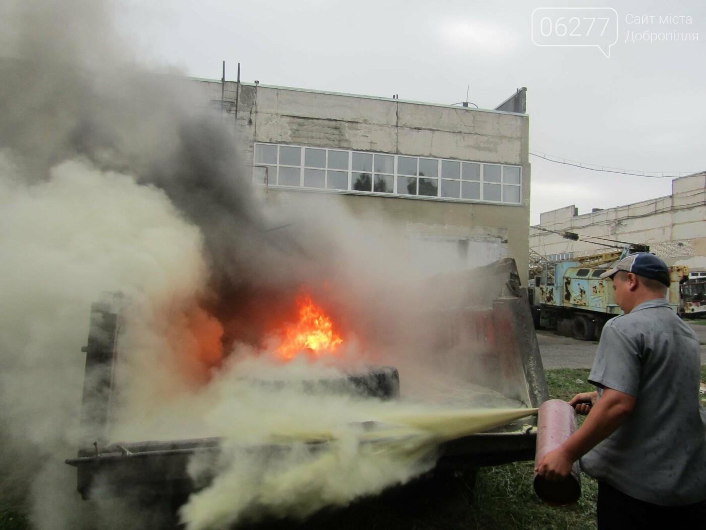 У Добропіллі рятувальники провели тактико-спеціальні навчання з ліквідації умовної пожежі, фото-1