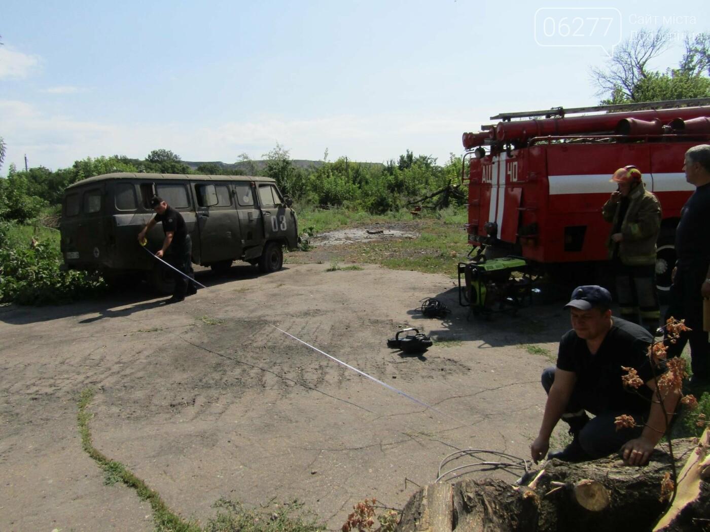 У Добропіллі 14 серпня рятувальники та поліцейські ліквідували наслідки умовної ДТП, фото-1