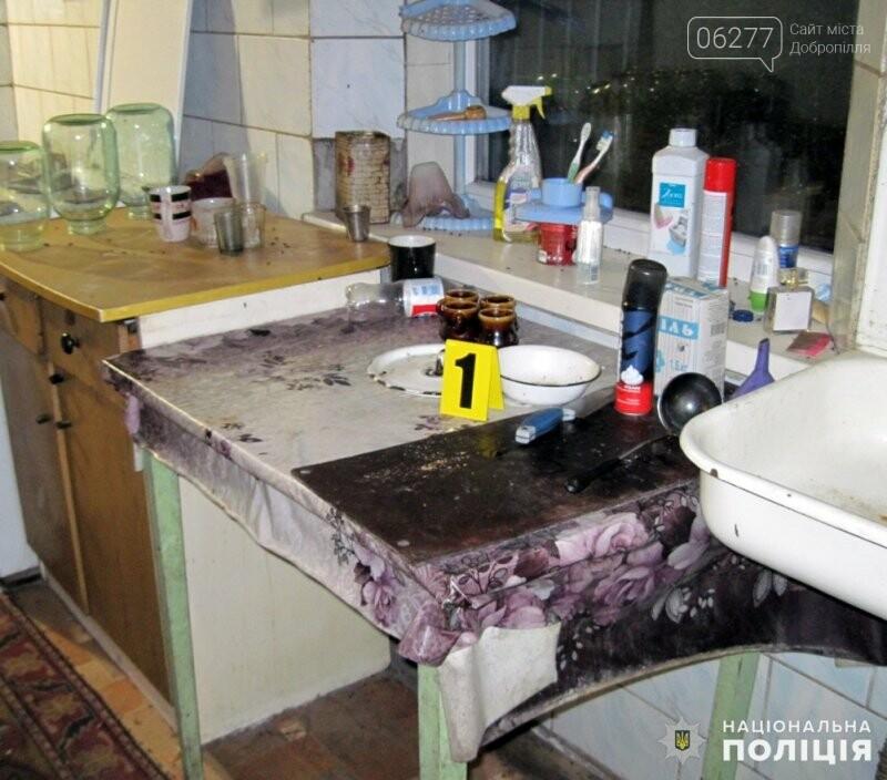 В Доброполье задержана женщина, которая поссорившись со своим сожителем, схватилась за нож, фото-1