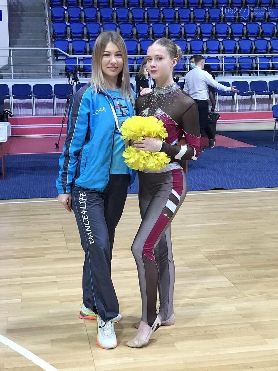 Бронзовою призеркою Кубку України з черлідингу стала вихованка Добропільського ДЮСШ , фото-1