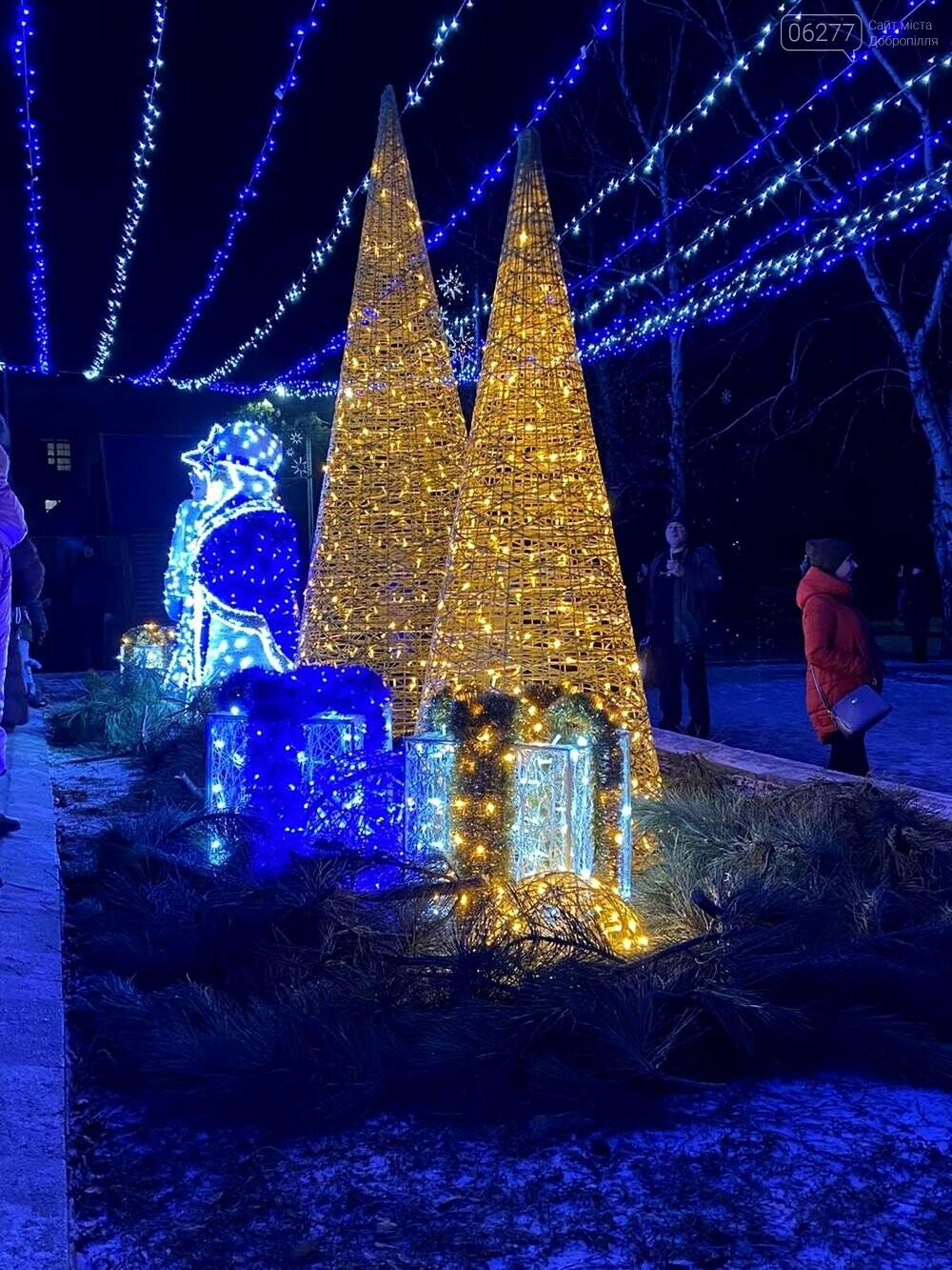 Зимове місто запалює вогні: у Добропіллі засяяла новорічна ялинка, фото-2