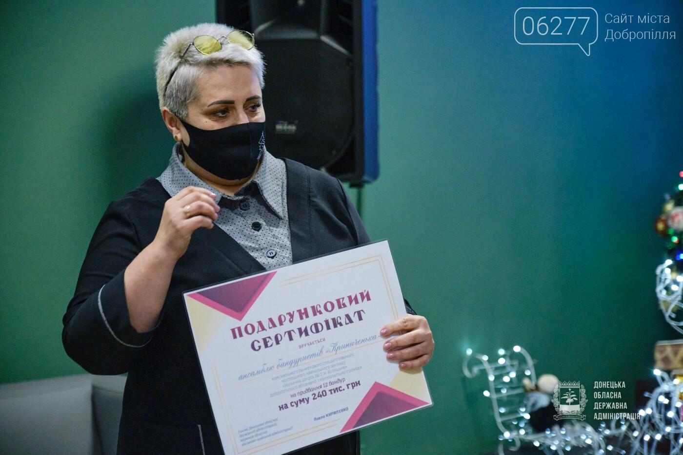 Білицька музична школа отримала сертифікат на 240 тис.грн. від губернатора, фото-1